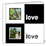 Angelica Classic Black & White  Deluxe 8 x 8 20 page book - 8x8 Deluxe Photo Book (20 pages)
