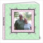 Fancy Pink & Green Album 8x8 20 pages - 8x8 Photo Book (20 pages)