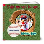 baseball game book template - 8x8 Photo Book (20 pages)