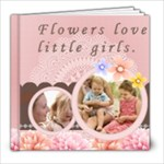 little girl and flower - 8x8 Photo Book (20 pages)