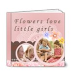 little girl and flower - 6x6 Deluxe Photo Book (20 pages)
