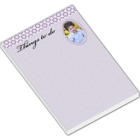 Things To Do Large Note Pad By Deborah   Large Memo Pads   Usyp0a1qldz8   Www Artscow Com