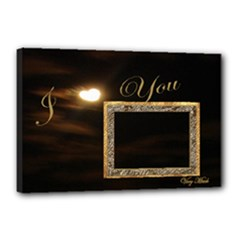 I Heart You Moon 18x12 stretched Canvas - Canvas 18  x 12  (Stretched)