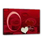 I Heart You red 18x12 stretched Canvas - Canvas 18  x 12  (Stretched)