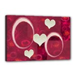 I Heart You pink 18x12 stretched Canvas - Canvas 18  x 12  (Stretched)