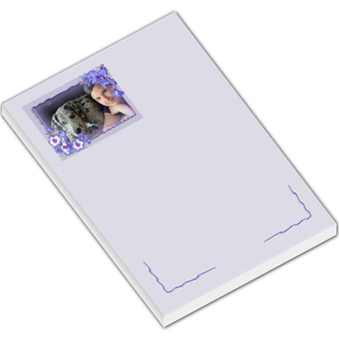A Touch Of Voilet Large Memo By Deborah   Large Memo Pads   R4pmn54wyrvf   Www Artscow Com
