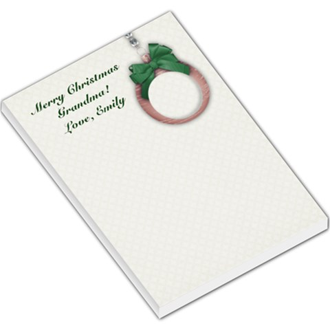 Christmas Ornament  Large Memo Pad By Mikki   Large Memo Pads   E2t2uyavklkd   Www Artscow Com