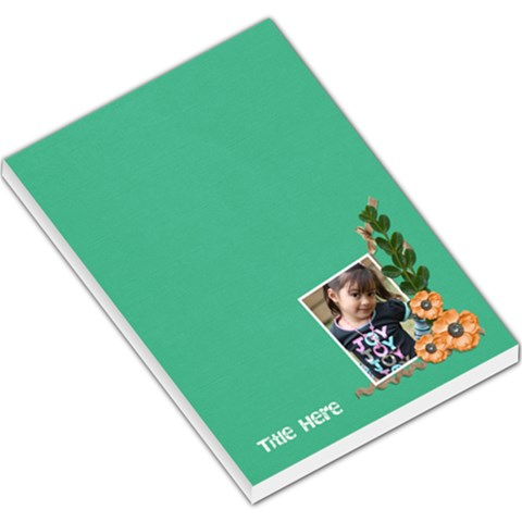 Large Memo Pads  Green Surprise By Jennyl   Large Memo Pads   Okd9yegkv6yx   Www Artscow Com
