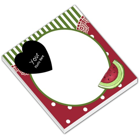 Watermelon Small Memo Pad By Lillyskite   Small Memo Pads   Xf5qwek2fv9p   Www Artscow Com