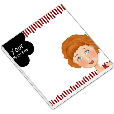Red And White Small Memo By Lillyskite   Small Memo Pads   9heuatas08gn   Www Artscow Com