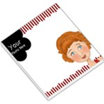red and white small memo - Small Memo Pads
