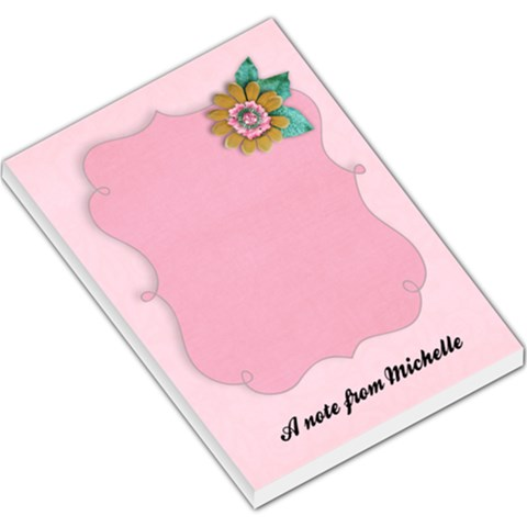 Flair & Flowers   Large Note Pad By Mikki   Large Memo Pads   Hljtlsev5nnz   Www Artscow Com