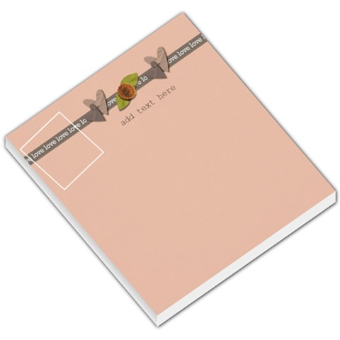 Small Memo Pad   Love Grows3 By Jennyl   Small Memo Pads   N9m83h22mkua   Www Artscow Com