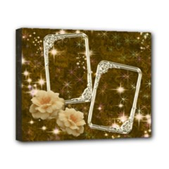 Neutral Gold star rose 8x10 stretched canvas - Canvas 10  x 8  (Stretched)