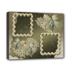 Neutral silver wedding 8x10 stretched canvas - Canvas 10  x 8  (Stretched)