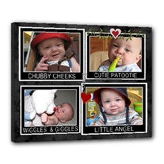 Cute Angel 20x16 Stretched Canvas - Canvas 20  x 16  (Stretched)