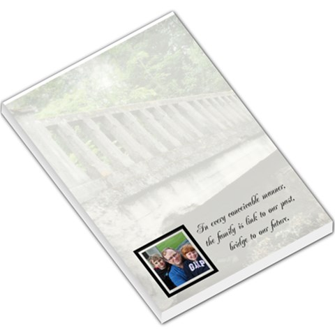 Family Bridge Memo Pad By Patricia W   Large Memo Pads   S5lcz89ip9n6   Www Artscow Com