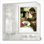 Our Wedding 8x8 Book (80 Pages) White - 8x8 Photo Book (80 pages)