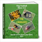 Flag Football - Chargers - 8x8 Photo Book (20 pages)