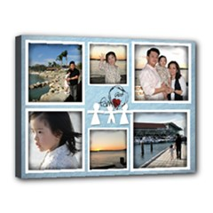 Canvas project 4 Goh family - Canvas 16  x 12  (Stretched)