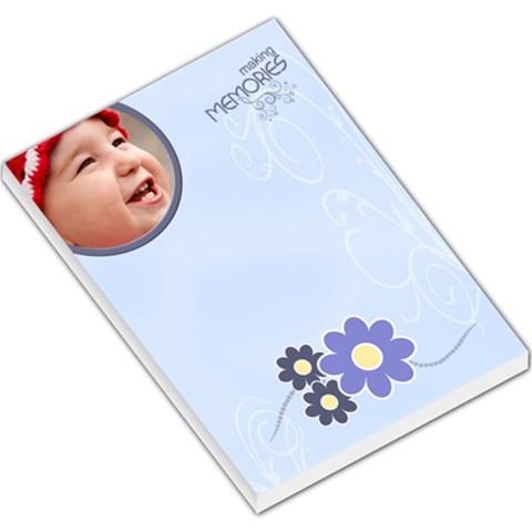 Serenity Blue Large Memo Pad By Picklestar Scraps   Large Memo Pads   2977uhewpybg   Www Artscow Com