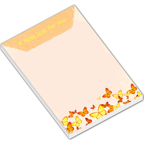 Butterfly Large Memo Pad By Arlene   Large Memo Pads   Ys3ugevtutcz   Www Artscow Com