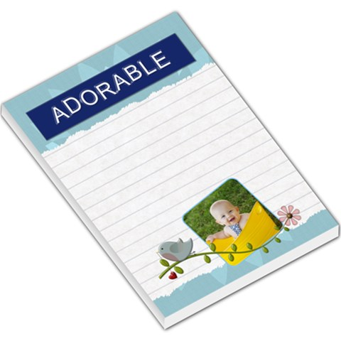 Adorable Large Memo Pad By Lil    Large Memo Pads   Cilqqofhkebo   Www Artscow Com