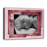 Pink Single Photo 16X12 Template - Canvas 16  x 12  (Stretched)