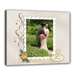 Canvas 20  x 16  (Stretched): Wedding Love