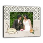 Canvas 20  x 16  (Stretched): Wedding Love3
