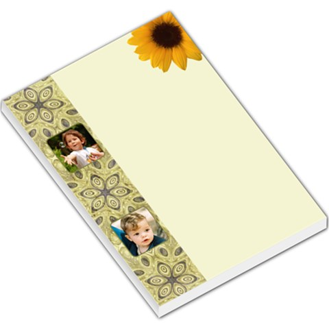 Sunflower Large Memo By Deborah   Large Memo Pads   Id1o4iymjs7c   Www Artscow Com