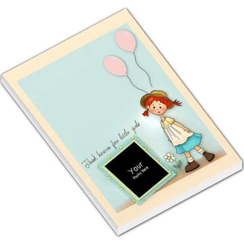 Thanks Heaven Little Girls Pad By Lillyskite   Large Memo Pads   Dsymcny29sax   Www Artscow Com