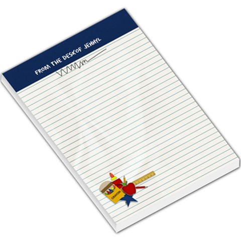 Large Memo Pad: From The Desk Of By Jennyl   Large Memo Pads   Jep1rcv7vocx   Www Artscow Com