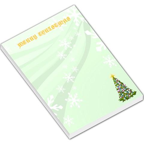 Christmas Large Memo Pad By Maryanne   Large Memo Pads   Hjyrdalxg5n2   Www Artscow Com