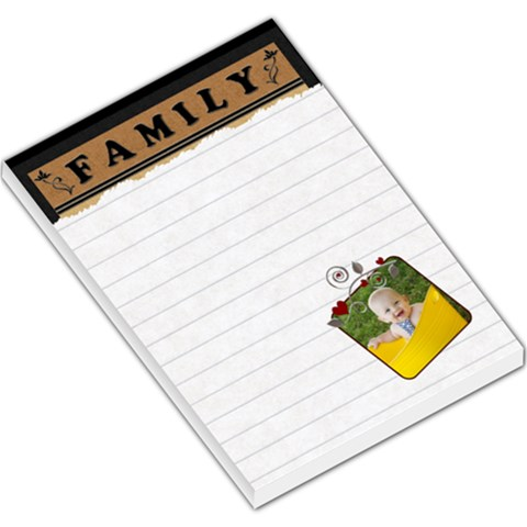 Family Hearts Large Memo Pad By Lil    Large Memo Pads   O01jcf97x9v4   Www Artscow Com