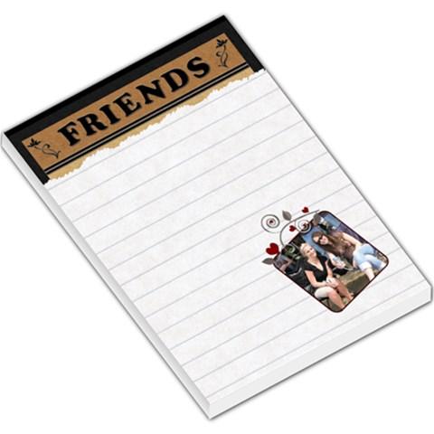 Friends Hearts Large Memo Pad By Lil    Large Memo Pads   E6e9vz4sor6a   Www Artscow Com
