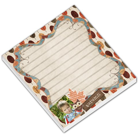 Autumntime Memo Pad By Sheena   Small Memo Pads   Ps29iqcvhxez   Www Artscow Com