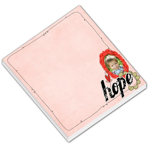 Hope  Memo Pad By Sheena   Small Memo Pads   Xlgy7jzbnv62   Www Artscow Com