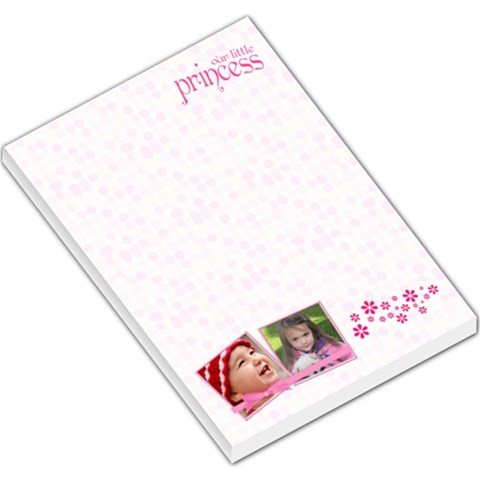 Little Princess   Large Memo Pad By Picklestar Scraps   Large Memo Pads   8knx4roiyp4r   Www Artscow Com