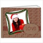 Happy Holidays/Christmas & glitter, 9x7 Photo Book - 9x7 Photo Book (20 pages)