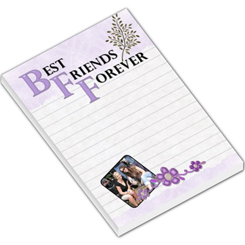 Bff Large Memo Pad By Lil    Large Memo Pads   Pah9xyxmskea   Www Artscow Com