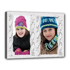 winter girls - Canvas 16  x 12  (Stretched)