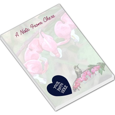 Bleeding Heart Large Memo Pad 7 12x5 5 By Chere s Creations   Large Memo Pads   Wbswb2dqhoxz   Www Artscow Com