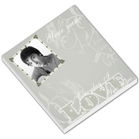 Silver Love Frame Small Memo Pad By Claire Mcallen   Small Memo Pads   C5ky9et0ovnz   Www Artscow Com