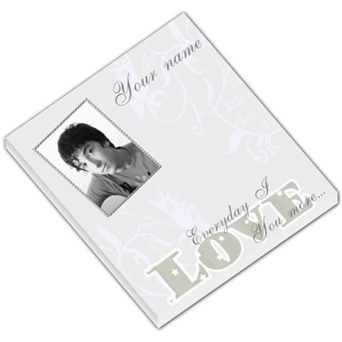 Silver Frame Love You More Small Memo Pad By Claire Mcallen   Small Memo Pads   Mfpsul1boblh   Www Artscow Com