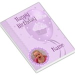 Happy Birthday large purple memo pad - Large Memo Pads