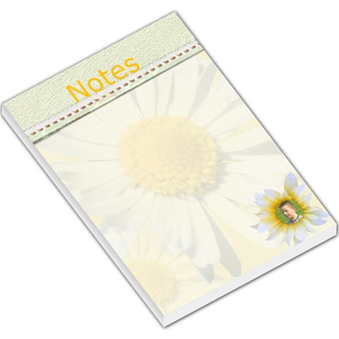 Daisy Large Memo Pad By Kim Blair   Large Memo Pads   0sw60ng07gmi   Www Artscow Com