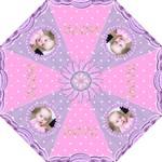 pink purple balloon star mini folding umbrella