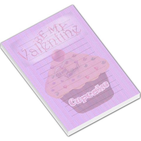 Be My Valentine Cute Cupcake Memo Pad Large By Claire Mcallen   Large Memo Pads   Ajvu63gpi7f9   Www Artscow Com