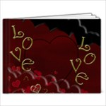 Red Love Book - 7x5 Photo Book (20 pages)